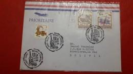 La République Tchèque Sur Un Envoyé En Bolivie Avec Timbres D'insectes - Tsjechië