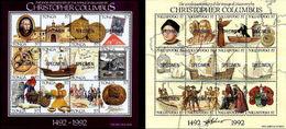 TONGA 1992 Christopher Columbus SPECIMEN SHEETLETS:2 - Tonga (1970-...)