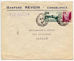 Morocco, French 1952 Airmail Cover Casablanca To Paris France W/ Scott 271 & C42 - Marokko (1891-1956)