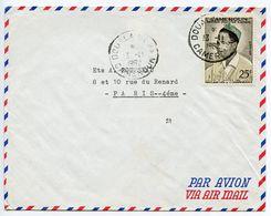 Cameroun 1962 Airmail Cover Douala Akwa To Paris France W/ Scott 337 Ahidjo - Cameroon (1960-...)