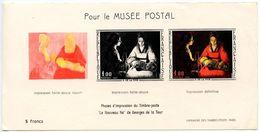 France 1966  Philatelic Souvenir Card Pour Le Musée Postal, NewBorn By Gregory De La Tour - Other