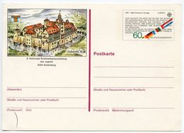 Germany, West 1982 60pf Europa Postal Card Najurbria '83 Philatelic Exhibition - Postcards - Mint