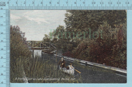 CPA - Animated Lake Couchiching Orillia Ontario, Mac Farlaine Card-  Used In 1910  Stamp CND 1¢ - Ontario