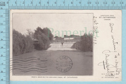 CPA -Waste Weis On The Welland Canal St. Catherines Ontario Souvenir Card-  Used In 1903  Stamp CND 1¢ - Ontario