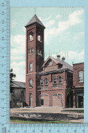 CPA -Fire Hall Orillia Ontario, Valentine Card-  Used In 1908  Stamp CND 1¢ - Ontario
