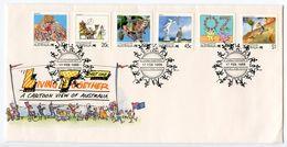 Australia 1988 Scott 1058/1078 FDC Living Together - FDC