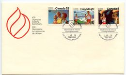 Canada 1976 Summer Olympic Games Closing Ceremonies Cover W/ Scott 681-683 - Summer 1976: Montreal