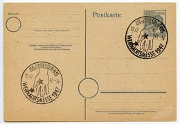 Germany 1947 Postal Card, Dresden Weihnachtsmesse, Christmas Fair - American,British And Russian Zone
