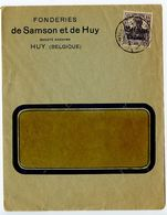 Belgium, German Occupation 1910's Cover Huy Postmark W/ Scott N16 - WW I