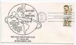 United States 1979 Scott C96a FDC Wiley Post - Ersttagsbelege (FDC)