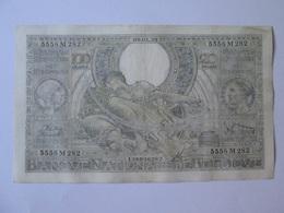 Belgium/Belgique 100 Francs/20 Belgas 1939 Banknote - [ 3] German Occupation Of Belgium