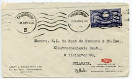 South Africa 1949 Cover Johannesburg To Wilmington, Delaware W/ Scott 114 - South Africa (...-1961)