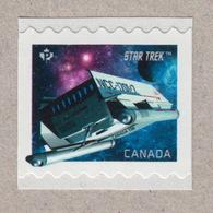 "= STAR TREK = SHUTTLECRAFT NCC-1701/7  ""THE GALILEO SEVEN"" = Small Standard Coil Stamp MNH Canada 2017 - Space"