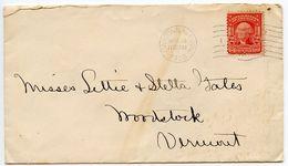 United States 1908 Cover Owatonna, Minnesota To Woodstock, Vermont W/ Scott 319 - Brieven En Documenten