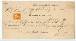 United States 1866 Rental Receipt New York, NY W/ Scott R15c - Revenues