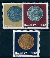 LSJP BRAZIL COINS OF COLONIAL BRAZIL - VINTÉM - PATACA - DOBRÃO - 1977 - Brésil