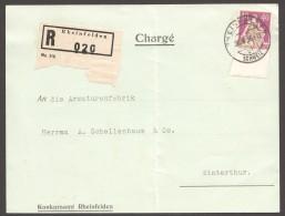 1936  Carte Recommandée Helvétia Avec épée 40Rp  Zum  176z - Covers & Documents