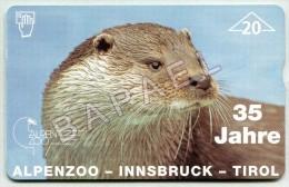 Carte Téléphonique D'Autriche - Loutre - Alpenzoo (Recto-Verso) (JS) - Télécartes