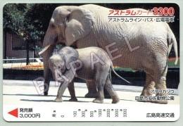 Carte Téléphonique Du Japon - Éléphants (Recto-Verso) (JS) - Télécartes
