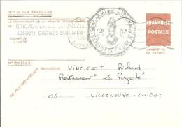 FRANCHISE POSTALE  CAGNES-SUR.MER 1988 - Enteros Postales