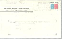 FRANCHISE POSTALE  NANCY 1988 - Enteros Postales