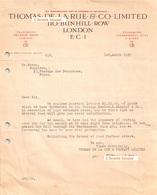 Document Du 01/03/1929 THOMAS DE LA RUE & Co - London, Londres UK - United Kingdom