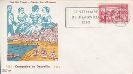 Enveloppe  FDC  Flamme  1er  Jour   FRANCE   DEAUVILLE   1961 - 1960-1969