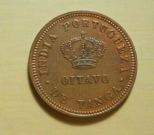 Portugal Índia 1/8 Tanga 1881 D. Luiz I - Portugal