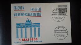 Sonderkarte Berlin Zum 1.Mai.1968 Mit Mi.Nr. 320( Kammergericht) Und Sonderstempel Berlin  12 Vom 1.Mai.1968 - Berlin (West)