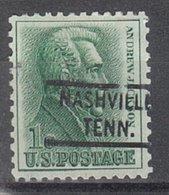 USA Precancel Vorausentwertung Preo, Locals Tennessee, Nashville 821 - Vorausentwertungen