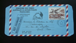 Entier Postal Aerogramme Premier Vol First Flight IFRTP Inauguration Annulée Terre Adélie TAAF 1994 - Enteros Postales