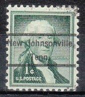 USA Precancel Vorausentwertung Preo, Locals Tennessee, New Johnsville 809 - Vorausentwertungen
