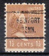USA Precancel Vorausentwertung Preo, Locals Tennessee, Newport 721 - Vorausentwertungen