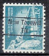 USA Precancel Vorausentwertung Preo, Locals Tennessee, New Tazewell 843 - Vorausentwertungen