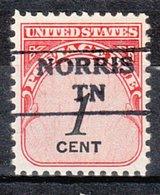 USA Precancel Vorausentwertung Preo, Locals Tennessee, Norris 872 - Vorausentwertungen