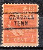 USA Precancel Vorausentwertung Preo, Locals Tennessee, Oakdale 729 - Vereinigte Staaten