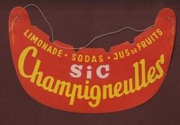 Visière Pare Soleil - Tour De France Cycliste - Année 1950/60 - CHAMPIGNEULLES - SIC - Limonade. Sodas. Jus De Fruits - Caps