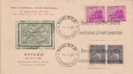 India 1968  Hyderabad Stamp Printed  HYPEX - 5  Special Cover  # 13413  D Inde Indien - Hyderabad
