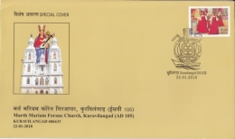 India  2018   Marth Mariam Forane Church  Kuravilangad  Cover #  12259  D Inde Indien - Churches & Cathedrals