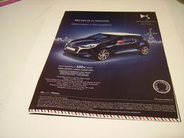 PUBLICITE AFFICHE VOITURE CITROEN DS 3 INES DE LA FRESSANGE 2016 - Cars