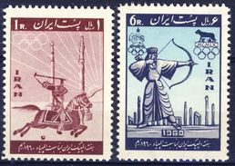 +Iran 1960. Olympic Games Rome. Michel 1080-81. MNH(**) - Irán
