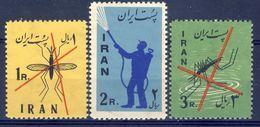 +Iran 1960. Malaria. Michel 1077-79. MNH(**) - Iran