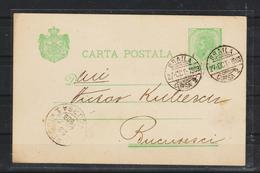 1899 - CARTA POSTALA  - Spic De Grau - BRAILA - BUCURESCI - 1881-1918: Charles I