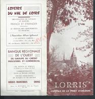 ANCIEN DÉPLIANT DE LORRIS & PLAN  PLUBLICITÉS : - Dépliants Touristiques
