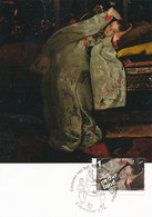 D34497 CARTE MAXIMUM CARD FD 2014 NETHERLANDS - WOMAN IN WHITE KIMONO BY BREITNER - VHK KINDERPOSTZEGEL CP ORIGINAL - Maximum Cards