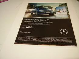 PUBLICITE AFFICHE VOITURE MERCEDES-BENZ CLASSE V 2016 - Cars