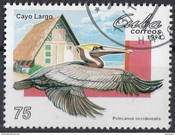 Cuba 1994 Sc. 3600 Fauna Cayo Largo Island : Pelecanus Occidentalis - Pellicano - Granchio CTO - Pellicani