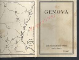 ITALIE ANCIEN PLANS DE GENOVA ( GÊNES ) : - Dépliants Touristiques