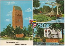 Groeten Uit Slochteren: Kerk, Notariswoning, Klapbrug - (Groningen, Holland) - Nederland