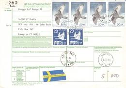SWEDEN - BULLETIN D'EXPÉDITION 1983 -> USA Mi #1140, - Schweden